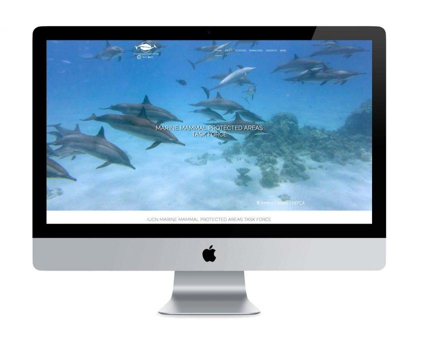 Sito web per Marine Mammal Protected Areas Task Force - ©Elena Politi Web Designer
