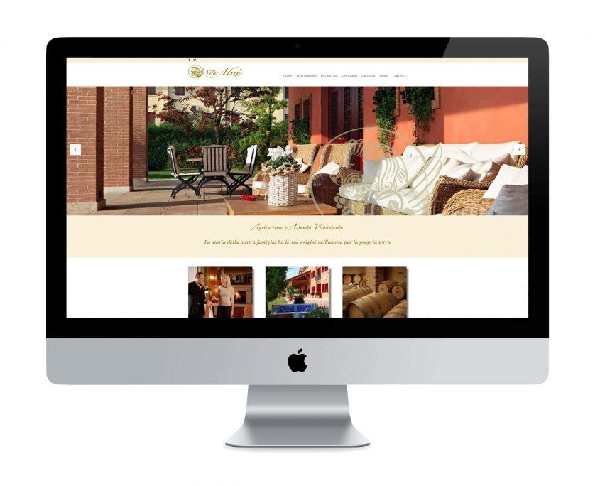 sito web agriturismo Villa Almè - ©Elena Politi Web Designer