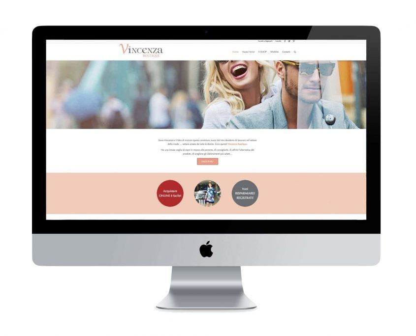 sito web negozio online Vincenza Boutique - ©Elena Politi Web Designer