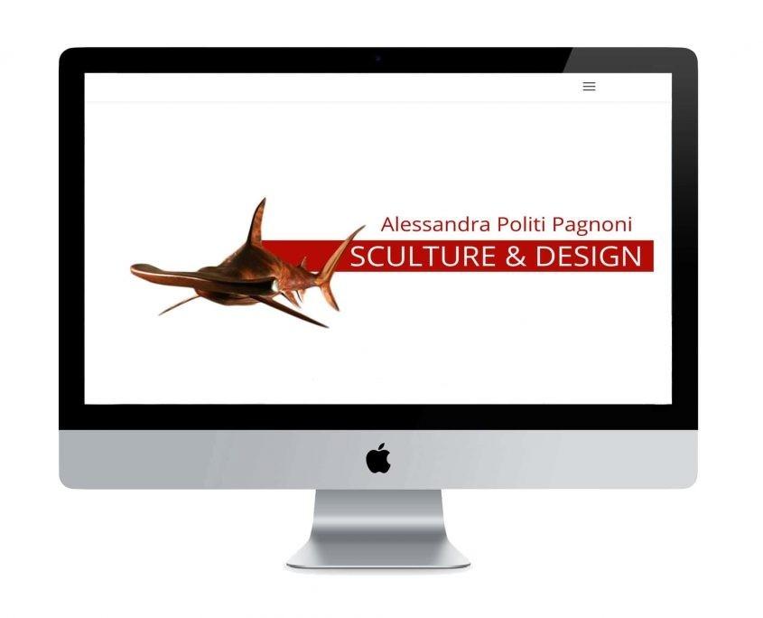 sito web Alessandra Politi Pagnoni Sculture & Design - ©Elena Politi Web Designer
