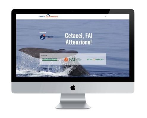 sito web progetto Cetacei FAI Attenzione - - ©Elena Politi Web Designer